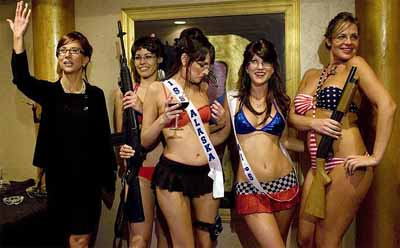 Sarah Palin look-alike stripper contest - from Daily Telegraph