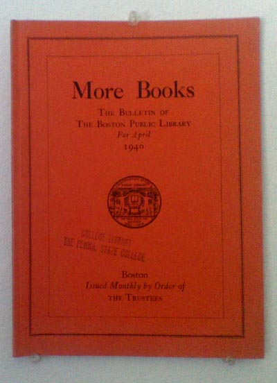 More Books: April 1940