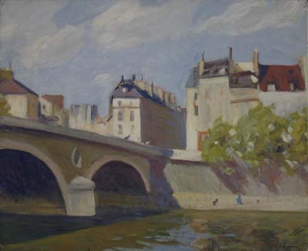Mystery Bridge Painting Number 1 - Bremer or Hopper