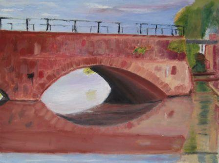 Mystery Bridge Painting Number 2 - Bremer or Hopper