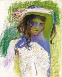 Girl Shading Her Eyes - Frantisek Kupka