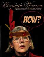 Racist Image of Elizabeth Warren