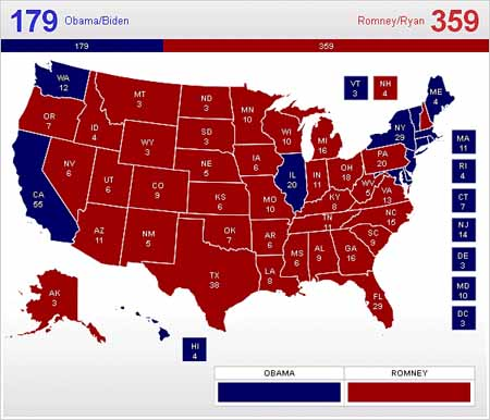 Unskewed Polls Projection of Presidential Race 2012