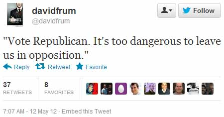 David Frum Tweet