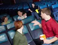 Talking at the movies