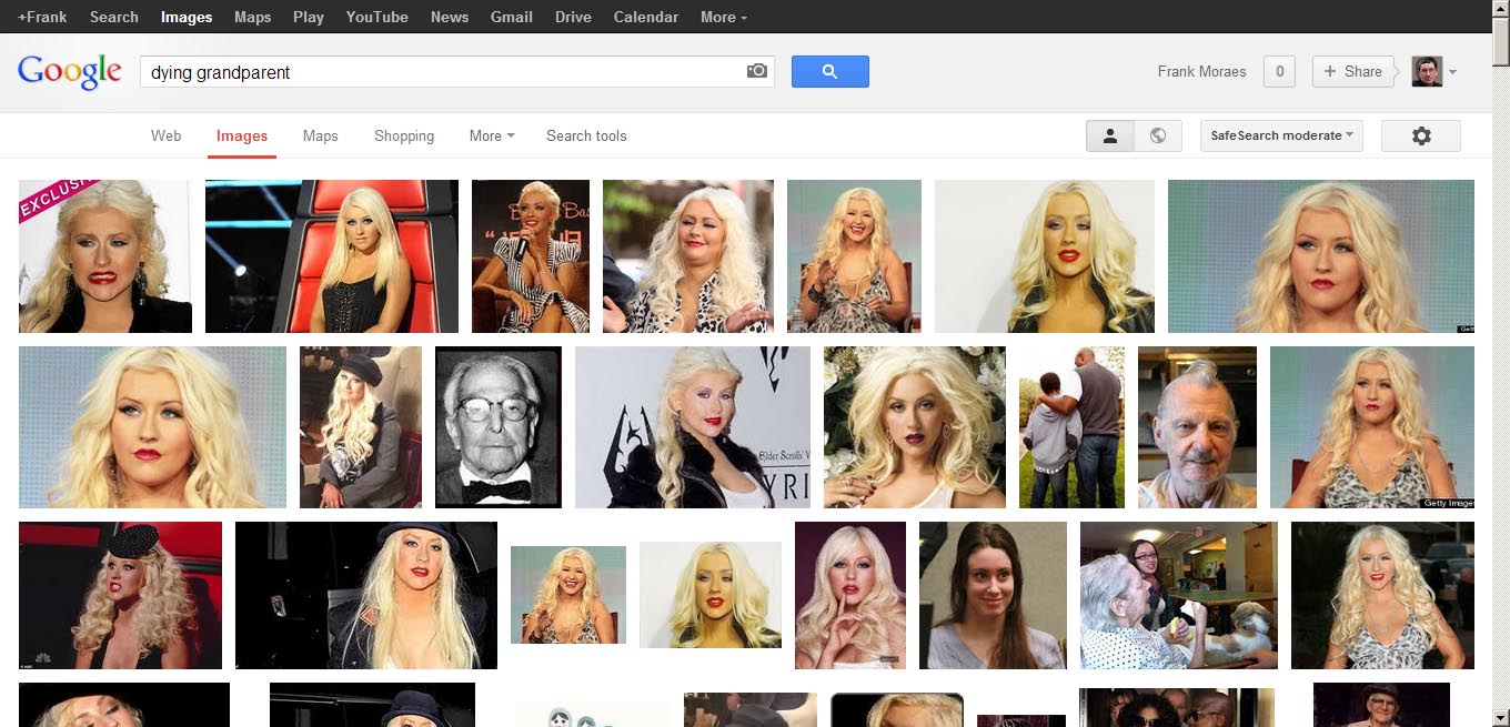 Google image search: dying grandparents