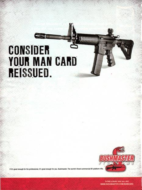 Bushmaster Ad - Consider Your Man Card Reissued