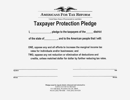 Gover Norquist Taxpayer Protection Pledge