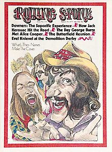 Dr. Hook on the cover of the Rolling Stone