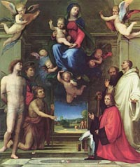 Madonna in Glory with Saints - Fra Bartolomeo