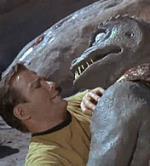 Kirk Against Gorn (lizard man)