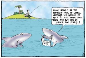 Sharks Discuss Global Warming