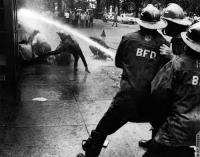Fire Hose Protesters
