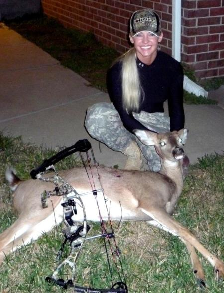 Theresa Vail with Dead Deer