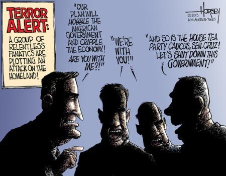 Shutdown Terrorists
