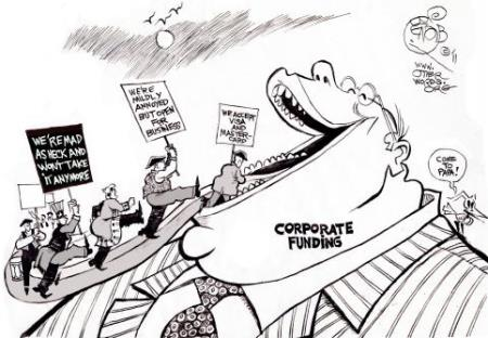 War or Tea Party and Business Interests