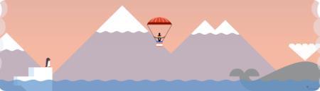 Google Doodle: First Parachute Jump