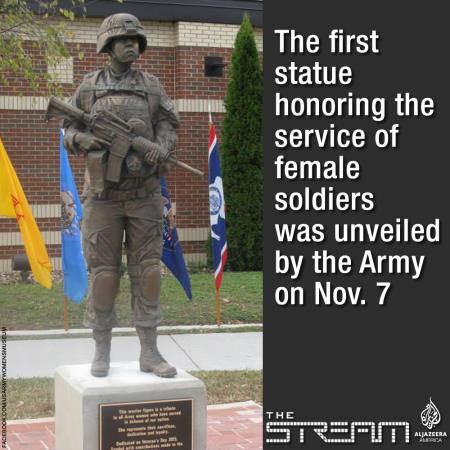 First Female US Soldier Statue