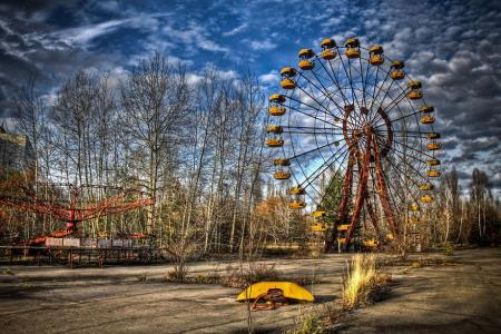 Fairground in Pripyat, Ukraine