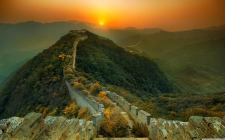 The Great Wall of China Overgrown