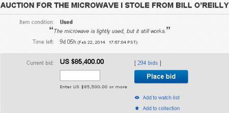 Bill O'Reilly's Microwave That Stephen Colbert Stole