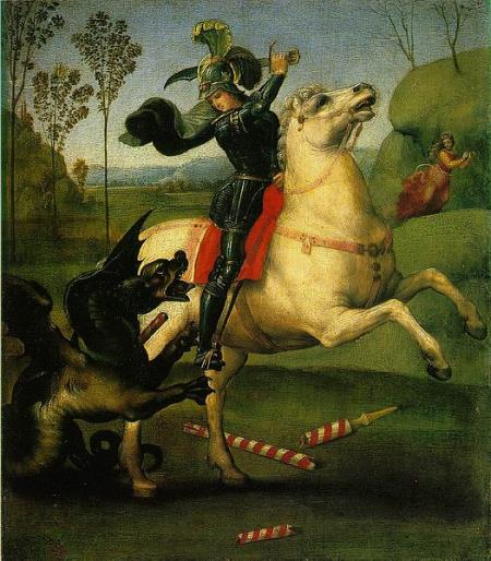 Saint George and the Dragon - Raphael