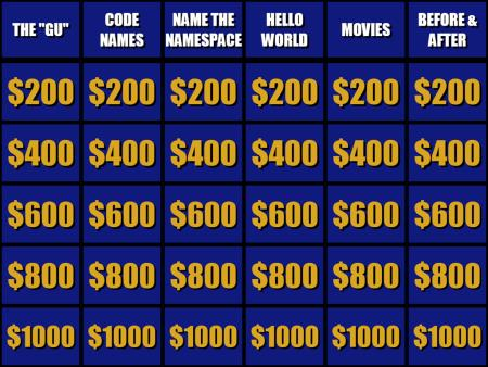 Jeopardy! Board