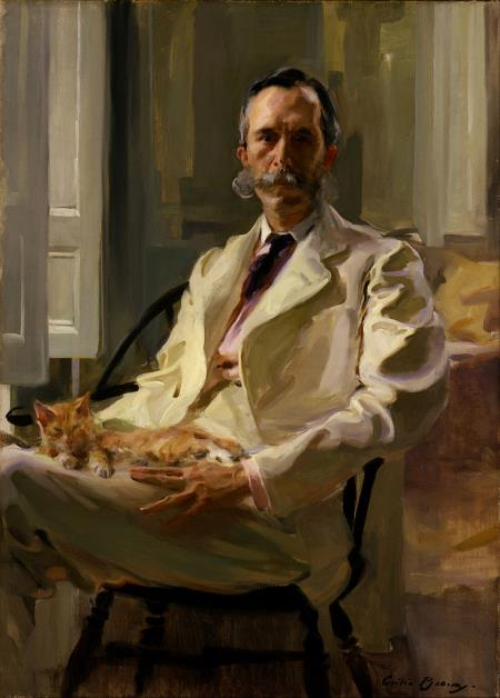 Man with the Cat - Cecilia Beaux