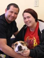Reckless the Dog with Chuck and Elicia James