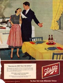 Schlitz Beer Ad 1950s