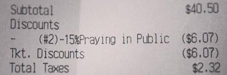 15% Discount: Praying in Public