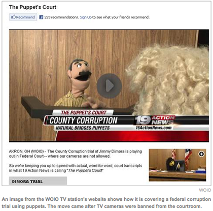 Courtroom puppetry