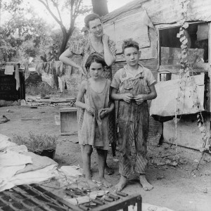 Poor Family by Dorothea Lange