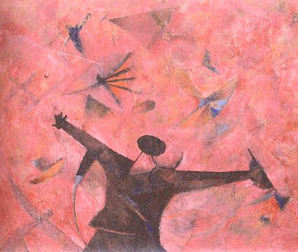 Hombre Mirando Pajaros - Rufino Tamayo