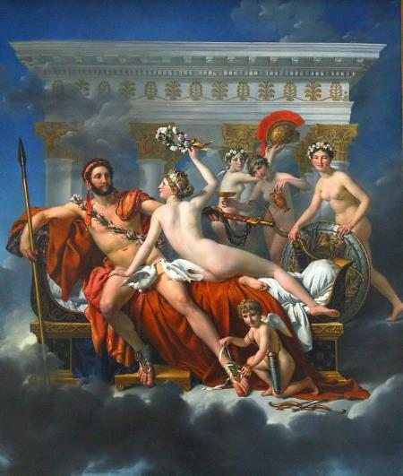 Mars Being Disarmed by Venus - Jacques-Louis David