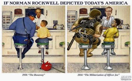Norman Rockwell the Runnaway - Mad Magazine Parody