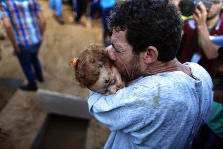 Palestinian Father with Dead Child