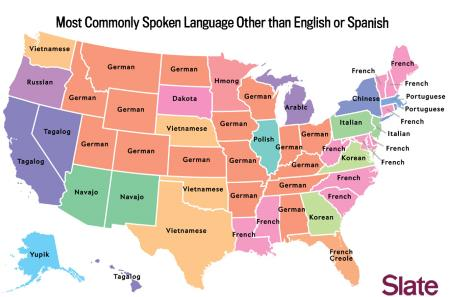 Third Most Used Language By State