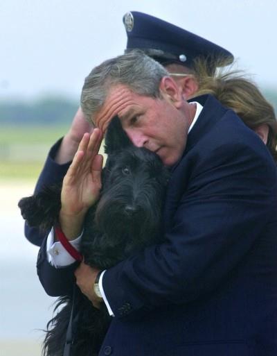 Bush's Dog Salute