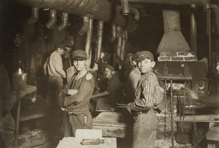 Midnight at the Glassworks - Lewis Hine