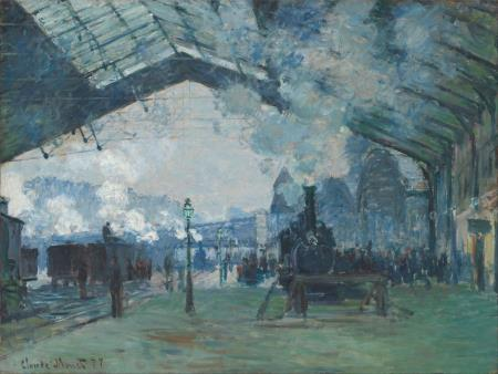 Arrival of the Normandy Train - Claude Monet