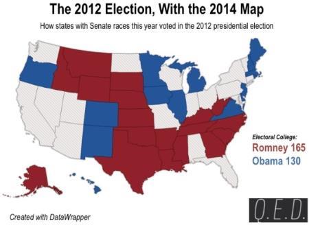 Senate Map 2014