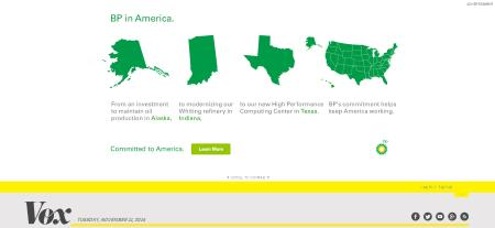 Vox Home Page is All BP Ad