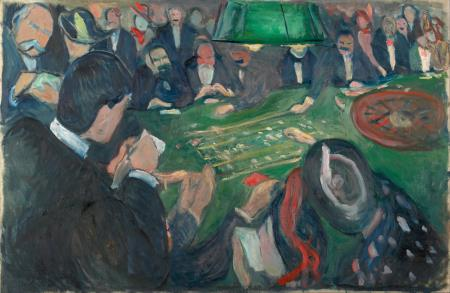 At the Roulette Table in Monte Carlo - Edvard Munch