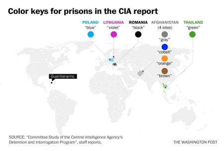 Color Coded CIA Black Sites