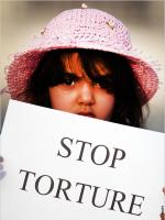 Stop Torture - Funny enough, cropped from image at US Embassy Website