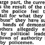 Nothing Changes: Police Hissy Fits