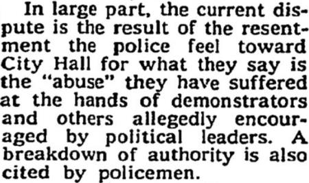 Police Dissent 1968 - The New York Times