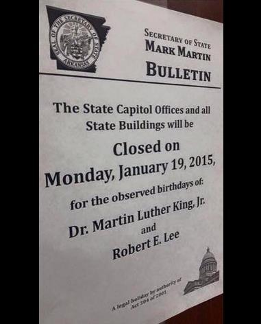 Robert E Lee Day?
