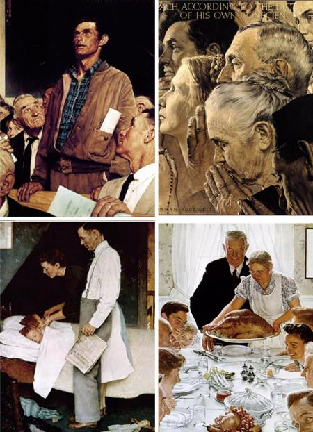 Four Freedoms - Norman Rockwell